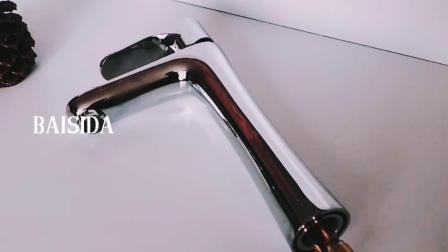 Alta rubinetto di lavabo montato di modo del collo piattaforma