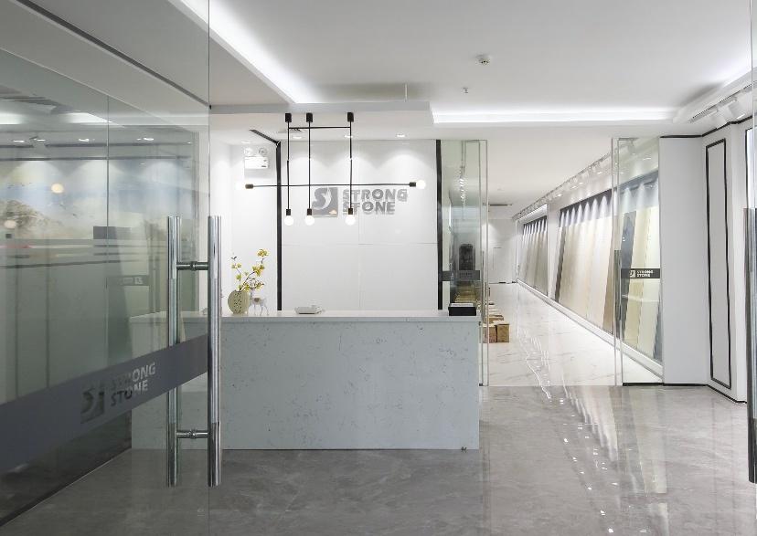 Weißer Polierquarz-Stein für Hotel-Entwurf