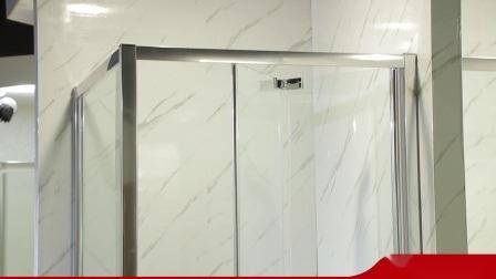 Neues Design Tempered Glass Badezimmer Duschkabine mit Rollen