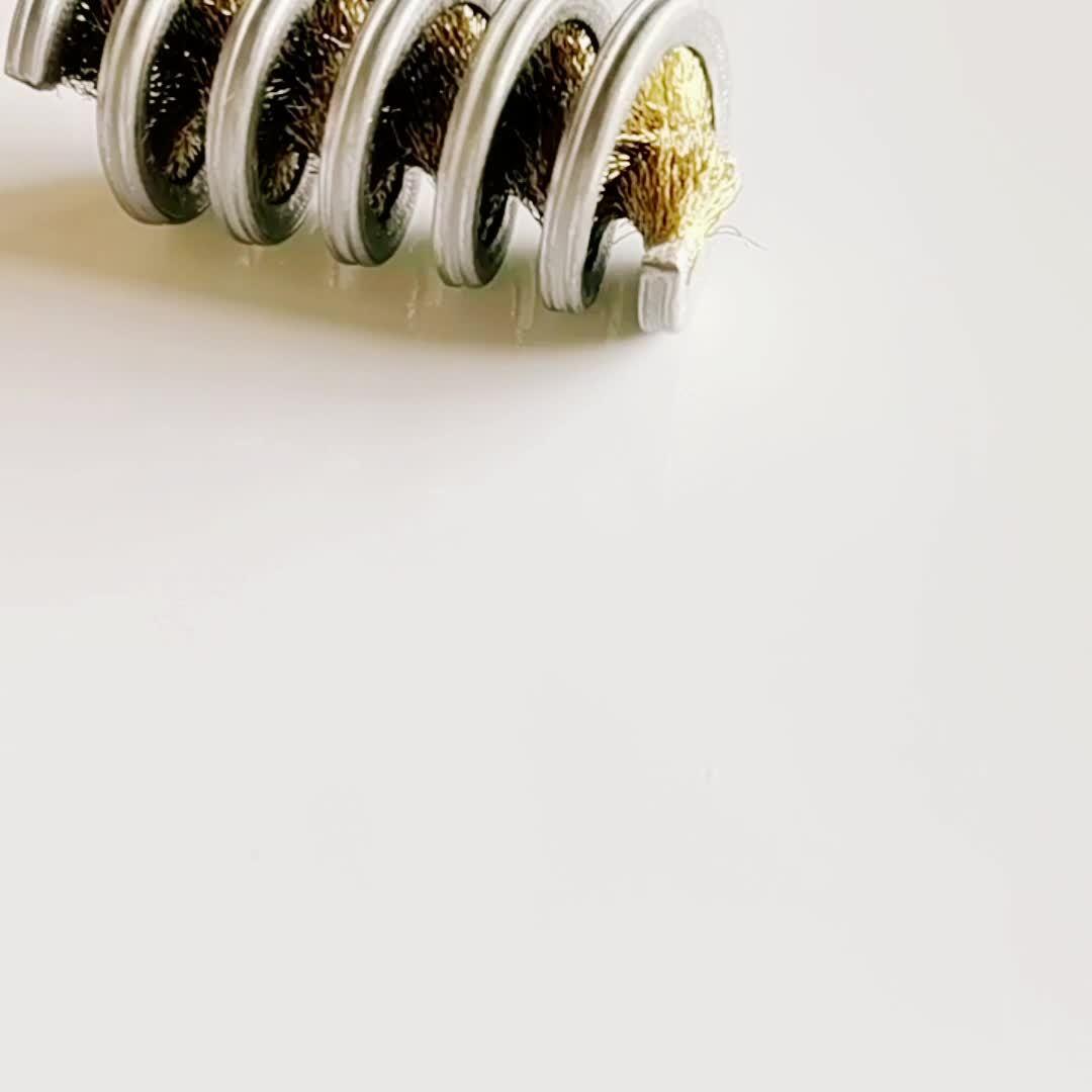 Cepillo de cerdas de latón laminado personalizado de bobina interna
