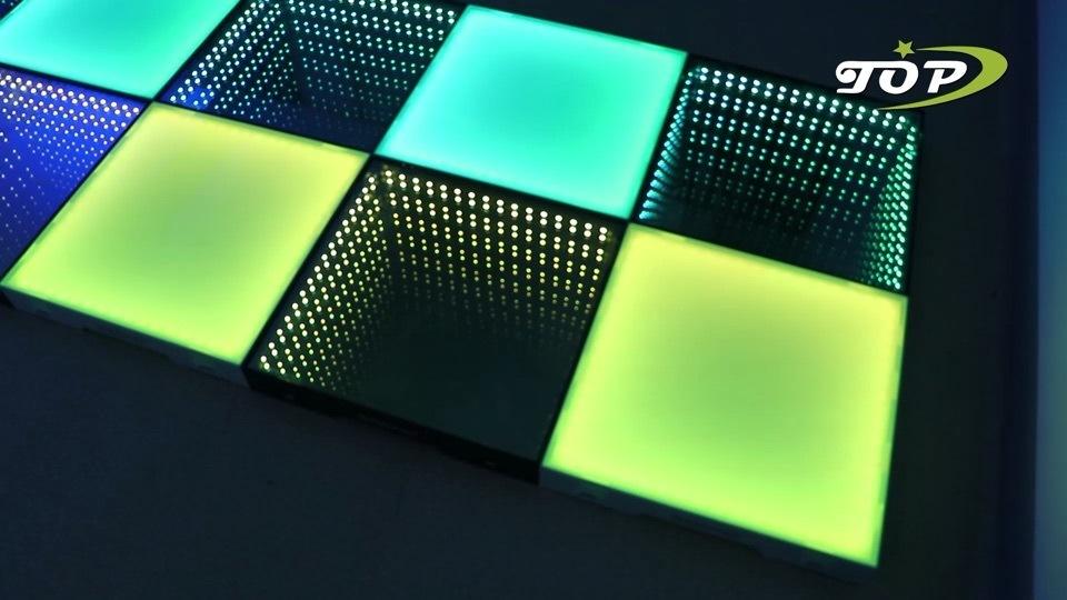 La lumière jusqu'Disco Outdoor Effet 3D plancher de danse de LED pour une discothèque embaucher l'Ecosse
