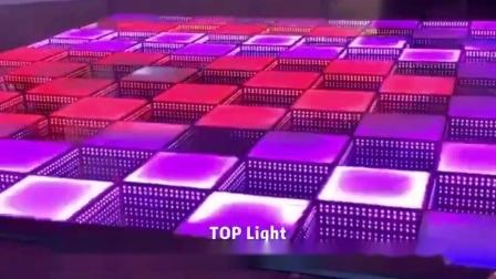 3D magnétique Illusions optiques LED LED de miroir de plancher de danse pour les mariages