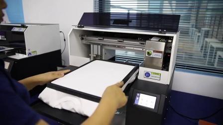 2020년 새로운 멀티컬러 A3 크기의 더블 헤드 30X40cm 디지털 직물 T-셔츠용 DTG 프린터
