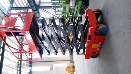 山東タヴォルの高級バッテリー式シザーリフト工場での販売 高性能