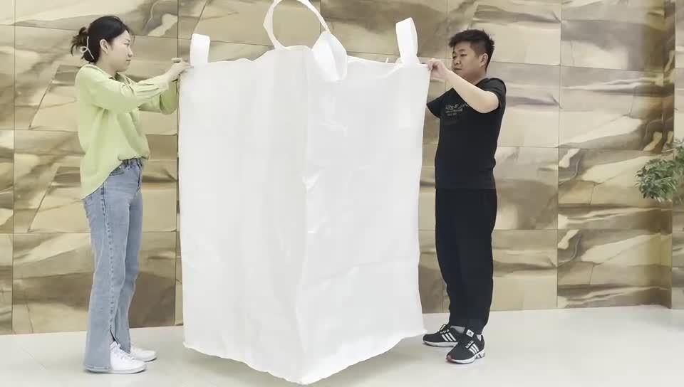 CE FDA Venta Directa de Fábrica a granel Duffle Bag 2 de 1 Ton Ton Jumbo FIBC Big Bag bolsa con la válvula con forro de Big Bag Bolsa PP