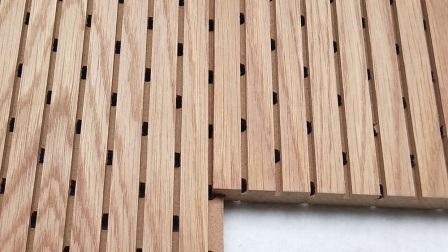 Flughafen-/Regierungsbehörden Schallschutzverkleidung Gerilltes Holzholz Akustikpaneel