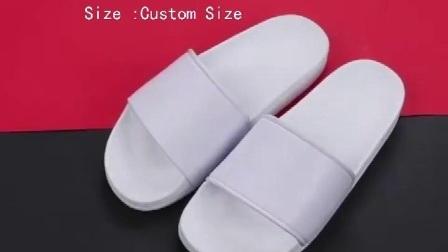 Mayorista de OEM Logo personalizados de diapositivas de las mujeres y hombres zapatillas sandalias chanclas