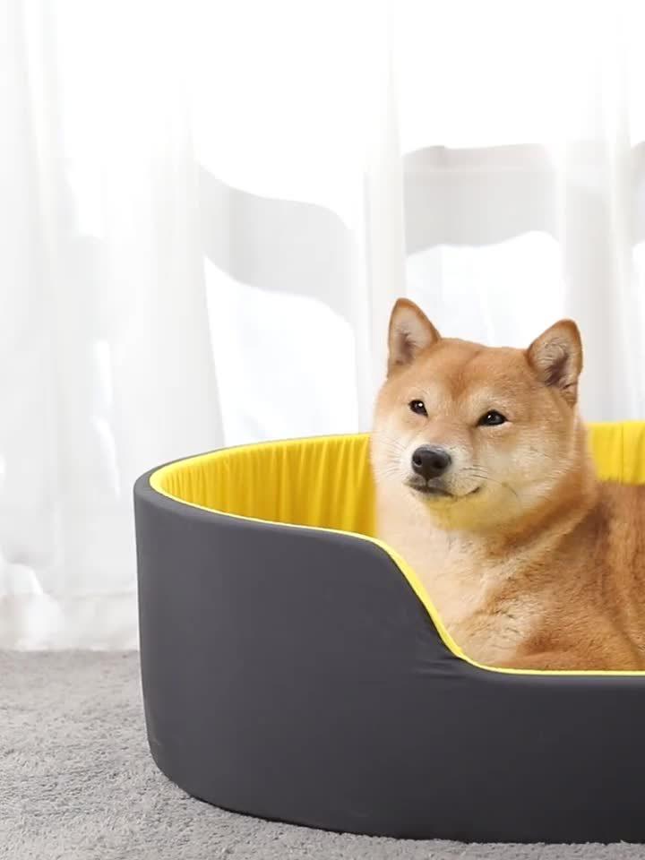 Polyfarbton-Schaumgummi-Haustier-Bett