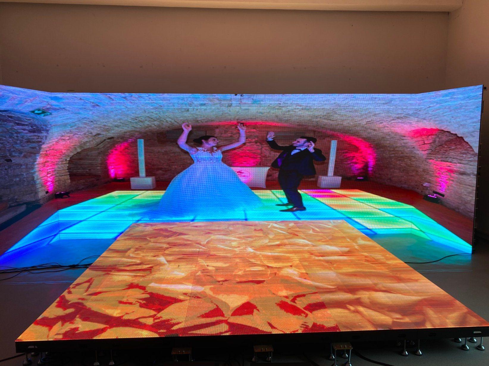 LED ステージ P15.6 P2 P3.91 LED スクリーン 500X500 室内が空です キャビネット