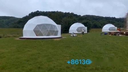 Wasserdichte Luxus Glamp Zelt Geodätische Kuppel Zelt