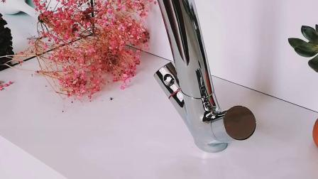 Rubinetto d'ottone del dispersore dei rubinetti della cucina del bicromato di potassio doppio delle maniglie montato piattaforma