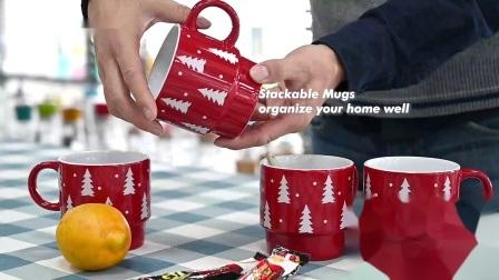 400 ml / 13 Oz Árvore de Natal café / chá Cup