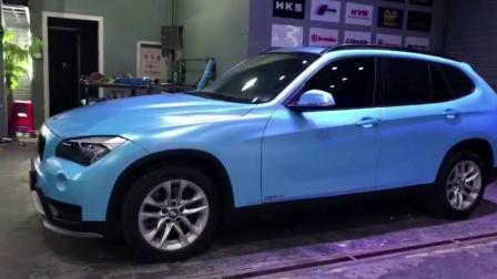 На заводе Гуанчжоу питания Самоклеющиеся Custom таблички Голубой матовый хром Car наклейка виниловая пленка