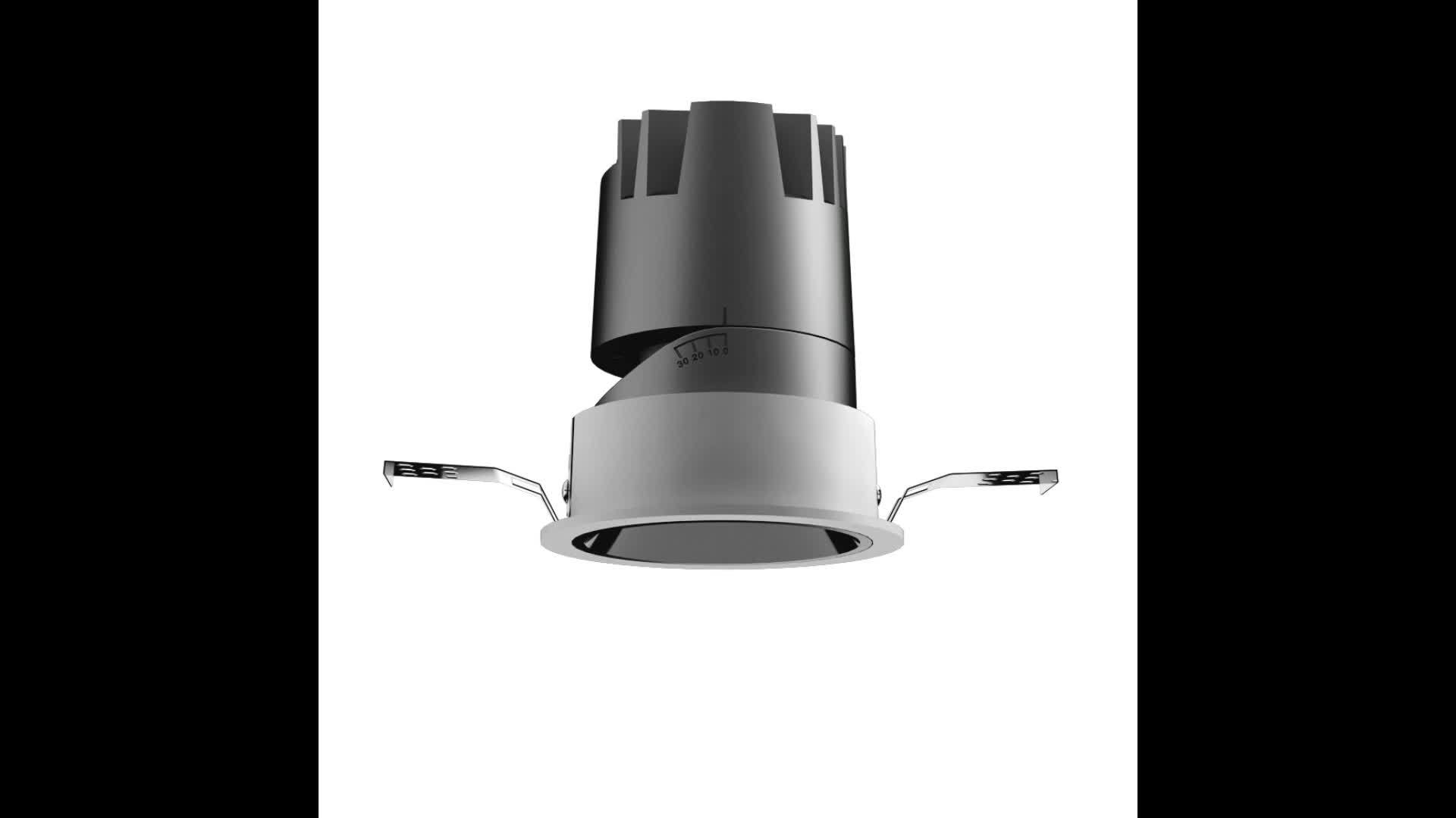 7W/12W/20W Anti Glare Dimmable Wall Washer Commercial Hotel Indoor Spotlight 조명 조절 가능한 천장 LED 다운 스팟 조명