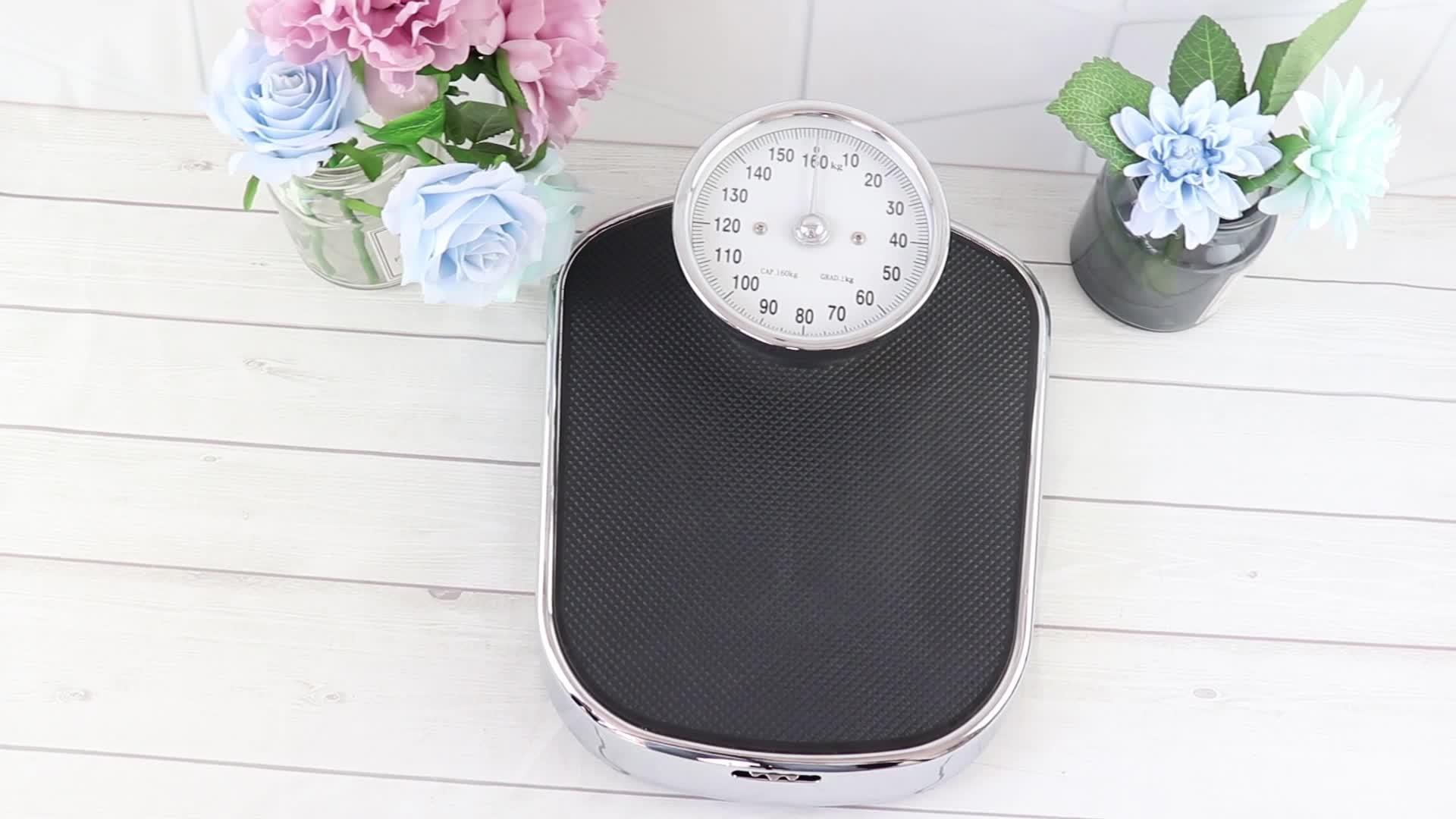 160kg Anti-Slip Surface Bathroom Medical Mechanical Body Weegschaal