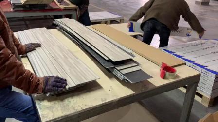 방수 PVC Wood 단엽형 Lvt 바닥 PVC 바닥 타일 비닐 바닥
