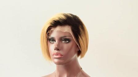 新しい設計 Pixie はレース Wig ブラジル人の人間の毛 Wig を切る