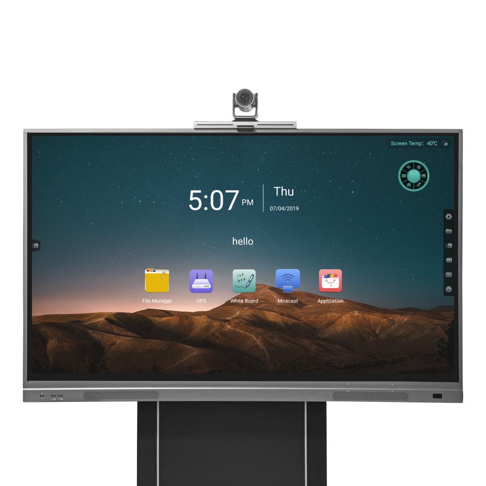 """Lavagna bianca interattiva LCD tattile a infrarossi per apparecchiature didattiche serie S8 da 75"""" Scheda intelligente con PC all-in-one"""