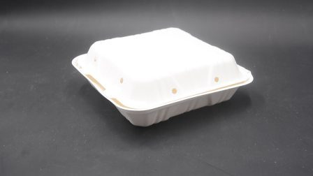 Almuerzo desechable ecológico 8inch Clamshell