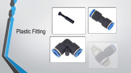Pneumática Pneumission Qualidade Alta Quick Connect Rosca PT empurrar na conexão