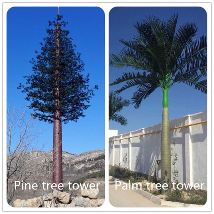 Один одетый трубки Palm Tree или сосны Telecom GSM антенны радио и Телекоммуникационной башни