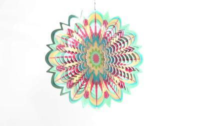 2020 Multi-Color criativos personalizados Butterfly Rotador 3D Cosmo cortados a laser do rotor de vento de metal para a decoração da casa e jardim