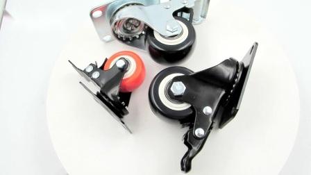Промышленные самоустанавливающегося колеса поворотного диска ПВХ самоустанавливающегося колеса с тормозом