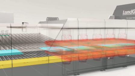 Landglass Horno Tempereing plana y dobladas de la máquina para el procesamiento de vidrio