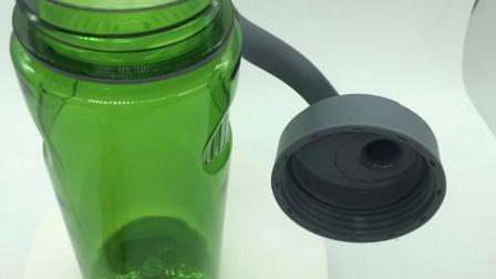 كوب بلاستيكي سعة 800 مل مع مساحة شاي قابل للتشكيلي قابل للحمل في المياه سعة 1000 مل