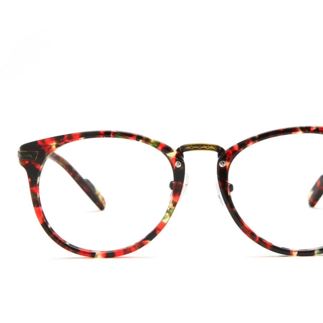 Óptico de alta calidad de acetato de bastidor de gafas, las mujeres&Señoras anteojos 1