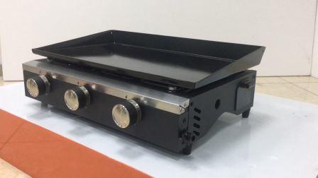 Griglia del BBQ del gas dei tre bruciatori per la griglia nazionale Plancha del barbecue del gas con Ce LFGB