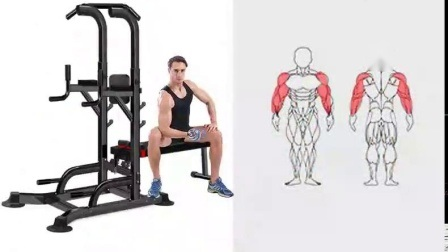 Startseite Sportgeräte Power Tower Parallel Bars Übung Muscle Pull-UPS