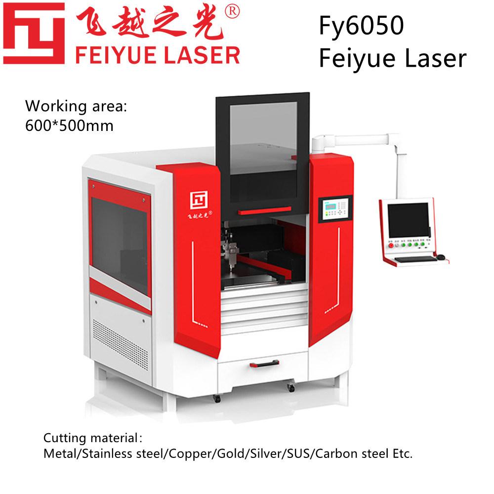 Fy6050 Feiyue Fiber Cut Cutter Maschinen Lineare Führung THK Schmuck Sägeblattplatte Präzision Edelstahl Aluminium Kupfer Blech Laserschneidmaschine