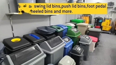 Outdoor-Papierkorb Kann Papierkorb Plastikmüll Müll Mülltonne