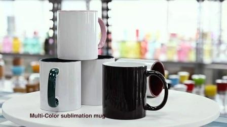 Duas cores de Tom 11 Oz Canecas Sublimação