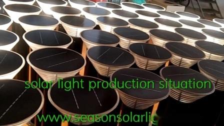 Lámpara de iluminación LED de alta potencia al aire libre Jardín de luz LED de la CE con panel solar y luces LED