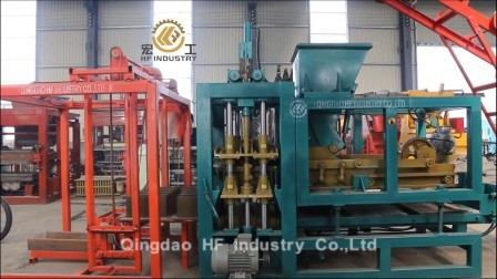 Qt4-16 Machine automatique de bloc de béton creux de la ligne de production machine à fabriquer des briques