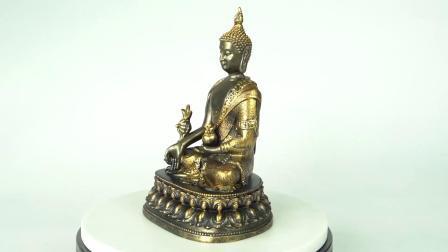 Throneの新しいArrive Golden Color Home Indoor Decor Tabletop Small Fengshui Resin Meditating Zen仏Statue