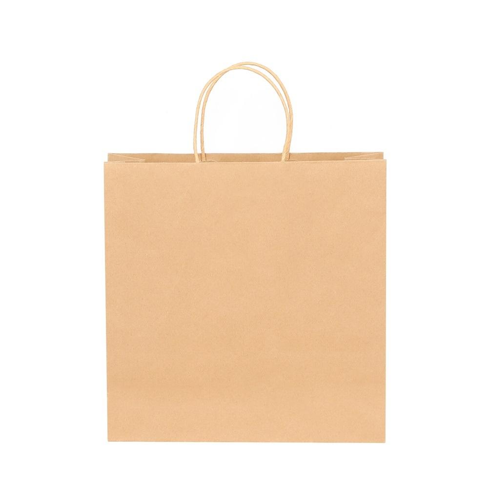 "Kraft Paper Brown エコショッピングバッグ 10-1/2"" × 8"""