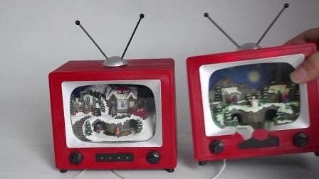 2020 verkoopt het Beste het Draaien van LEIDENE van de Scène van TV van de Trein de Decoratie Kerstmis van de Muziekdoos