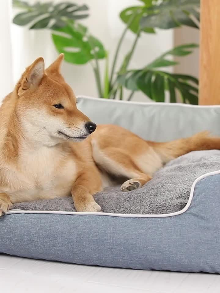 Weiche nachgemachte Kaninchen-Haar-Hundekatze-Betten (WY1711038-2A/C)