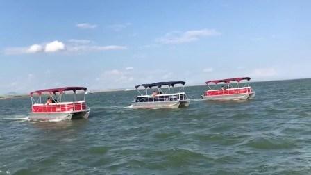 На борту катамарана Bestyear плавсредства 735 алюминиевый понтон лодки