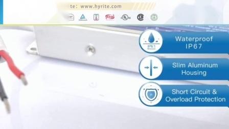 실외용 IP67 12V 150W 12.5A 슬림 LED 전원 공급 장치