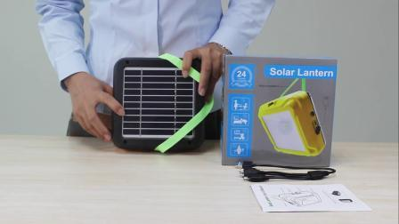 Solar- und AC-Adapter Solar Laterne mit Mobile Charging