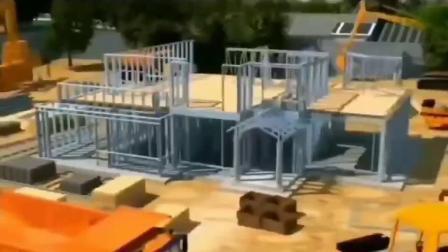Novo Modelo Villas Steel House Casa prefabricados com 3 Quarto