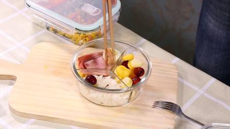 Lunch Box de vidro de alta qualidade nítida de vidro com tampa tigela de vidro de microondas