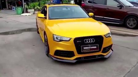 Новый цвет! 3 слоев низкое сцепление клея Custom Crystal кленового листа желтый автомобиль виниловых наклеек