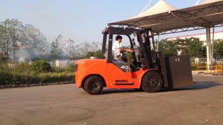 Snsc 4ton Diesel Forklift to Mauritania (スネッツ 4 トンディーゼルフォークリフトでモーリタ