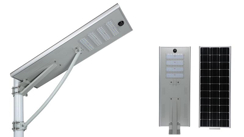 Wasserdichter Bewegungssensor Für Den Außenbereich Solar Betriebene Straßenlampe Integriert Alle In einem LED Solar Street Light 50W 80W 100W