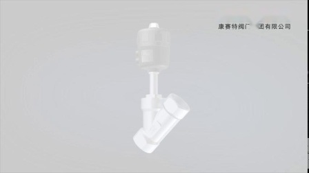 Plastik-Belüftung-pneumatisches Winkel-Kolbenventil
